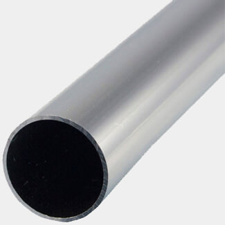 Rothley Trims Uncoated Alumminum Round Tube - 1 Mitre Length - Various Sizes Available
