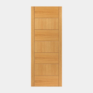 JB Kind Pre Finished Oak Sirocco Fire Door - Various Width Available