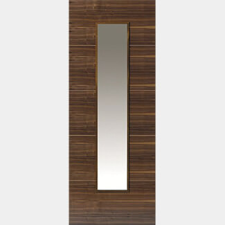 JB Kind Parisienne Walnut Pre-finished Interior Glazed Door 1981mm-Height x 35mm-Thick - Various Width Available