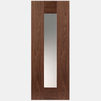 JB Kind Axis 1981mm-Height x 35mm-Thick Walnut Glazed Pre-finished Walnut Veneer Door - Various Width Available