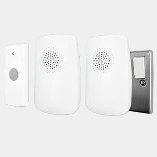 Uni-Com Portable And Plug-In Door Chime - Twin Pack