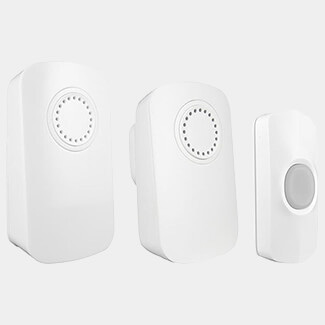 Uni-Com Smart Portable Chime And Plug-In Door Chime - Twin Pack