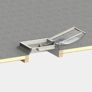 Keylite Flat Roof Smoke Ventilation - Variation Available