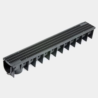 Clark Drain Deep Polyprop Domestic Channel Includes Mesh Grate 1m x 142mm x 135mm