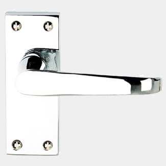 Dale Victorian Flat Lever On Backplate Polished Chrome Plated - Variation Available