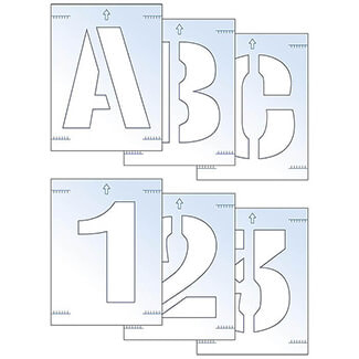 Scan Letter And Number Stencil Kit