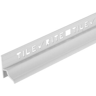 Tile Rite 1.8Mtr White Heavy Duty Bath Trim