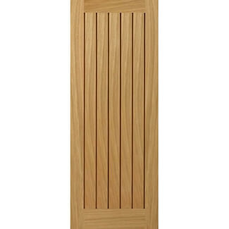 JB Kind Yoxall Cottage Style 44mm Thick Unfinished Oak Veneer Internal Fire Door - Various Sizes Available