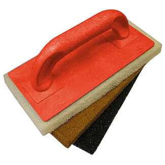 Faithfull Scouring Pad Holder With 3 Pads