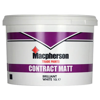 Macphersons Contract Matt Emulsion Paint 10L - Various Colours Available
