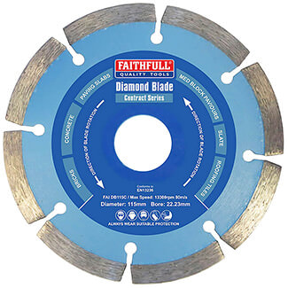 Faithfull Contract Series Diamond Blade - Various Diameter Available