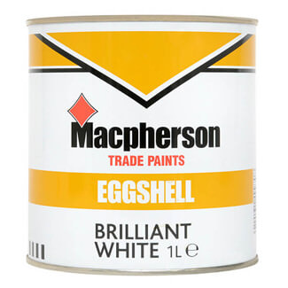 Macphersons Eggshell Paint Brilliant White - Various Pack Size Available