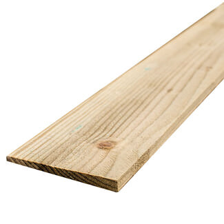 Buildworld Treated Feather Edge Board 125 x 22mm (5 Inch Width) - Various Lengths Available