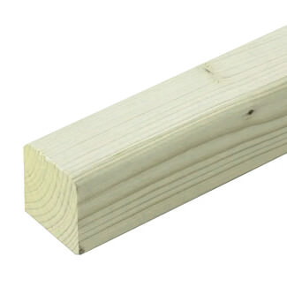 Buildworld Treated Timber Post 75 x 75mm - 3 Inch - Various Lengths Available