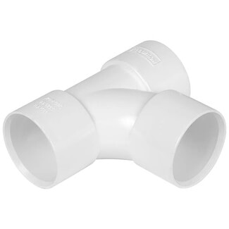 Buildworld 40mm Solvent Weld Tee - Available in White or Black