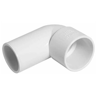 Buildworld 40mm Solvent Weld Street Elbow - Available in White or Black