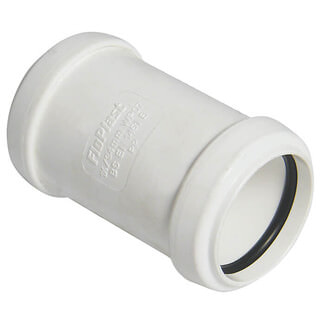 Buildworld 32mm Push Fit Straight Coupler - Available in White or Black