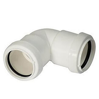 Buildworld 32mm Push Fit  90 Degree Elbow - Available in White or Black