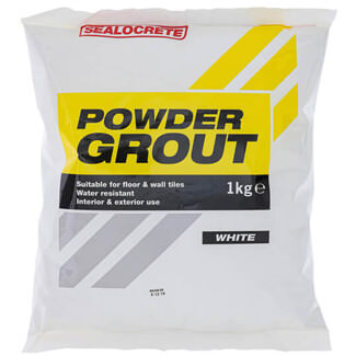 Bostik Sealocrete Powder Grout White - Various Pack Sizes Available