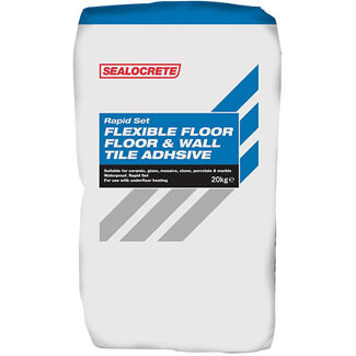 Bostik Sealocrete Rapid Set Floor And Wall Tile Adhesive Grey 20Kg