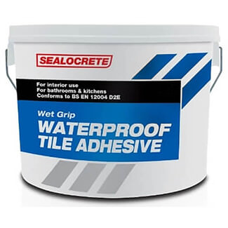Bostik Sealocrete Wet Grip Waterproof Tile Adhesive 10L