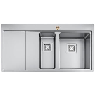 Bristan Ingot 1.5 Stainless Steel Easyfit Kitchen Sink - Variations Available