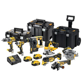 Dewalt 18V Brushless 7 Piece Cordless Kit With 3 x 5.0Ah Batteries