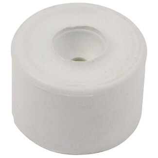 Dale 35mm White Rubber Door Stop - Pack Of 2 - Finishes Available