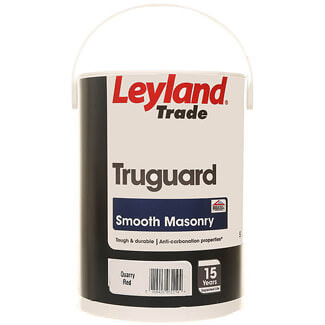 Leyland Trade Quarry Red Truguard Smooth Masonry Exterior Paint 5 Litre