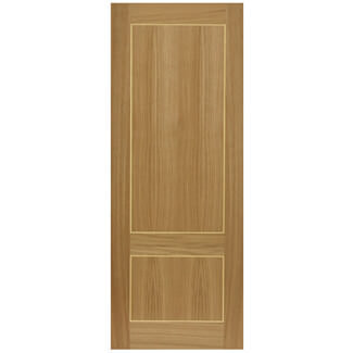 JB Kind Pre Finished Oak Lucina Fire Door - Various Width Available