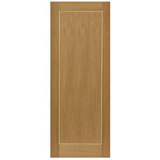 JB Kind Diana H-1981 x T-44mm Pre-Finished Oak Internal Fire Door - Various Widths Available