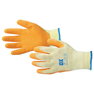 Ox Tools Latex Grip Glove - Various Sizes Available