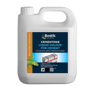Bostik Cementone Liquid Colour For Cement Black 1L - Various Finishes Available