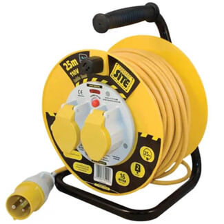Masterplug Cable Reel 110V 16A Thermal Cut-Out - More Size Available