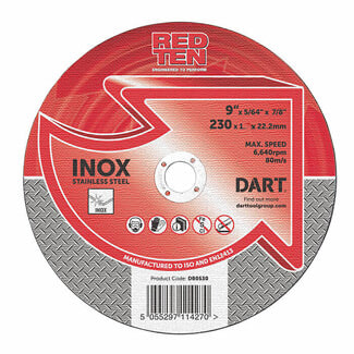 Dart Red Ten SS/Inox Abrasive Disk - Various Sizes Available