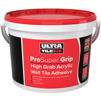 Ultra TileFix ProSuper Grip High Grab Acrylic Wall Tile Adhesive 15Kg
