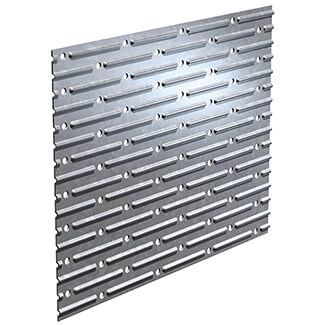 Expamet Galvanised Metal Nail Plate Square Shaped - Various Lengths Available