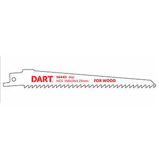 Dart S644D Wood Cutting Reciprocating Blade 130mm-Working length Pack Of 5