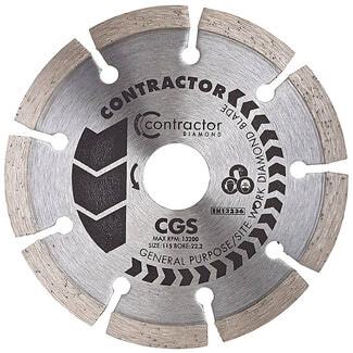 Ox Tools Spectrum Contractor General Purpose 115mm Diamond Disc Blade