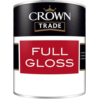 Crown Trade Full Gloss Paint - Various Colours And Litres Available