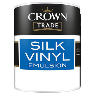 Crown Trade Silk Vinyl Emulsion Paint - Various Colours And Litres Available