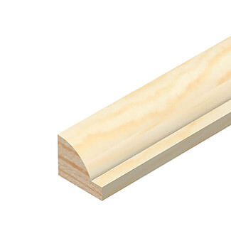 Cheshire Mouldings Ovolo Pine Glass Bead L 2400mm x W 12mm