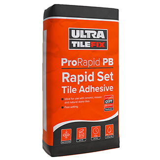 Ultra TileFix ProRapid PB Rapid Set Tile Adhesive Grey 20Kg