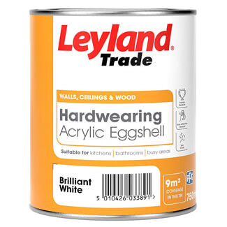 Leyland Hardwearing Acrylic Eggshell Paint - Various Colours And Litres Available