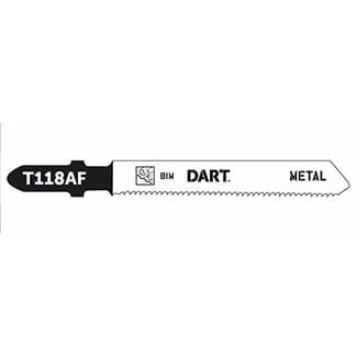 Dart T118AF Metal Cutting Jigsaw Blade 8TPI,50mm-Working length - Pack Of 5