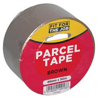 Rodo Fit For Job 48mm Wide x 50mtr Long Brown Parcel Tape