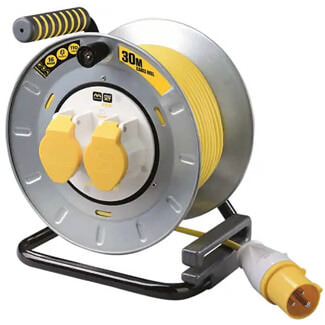 Masterplug Pro-XT Metal Cable Reel 110V 16A Thermal Cut Out 30m