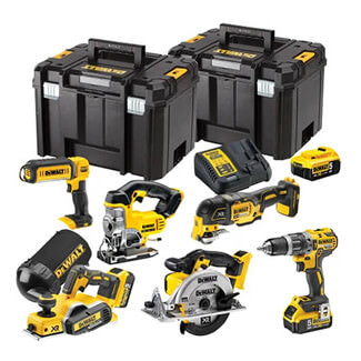 Dewalt Compact 6 Piece Wood Working Kit 18V 3 x 5.0Ah Battery
