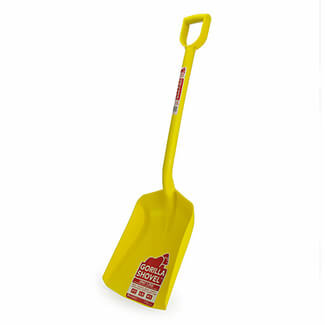 Gorilla Plastic Shovel Yellow 1 Piece Indestructible