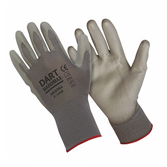 Handmax PU Glove Grey - Various Size Available
